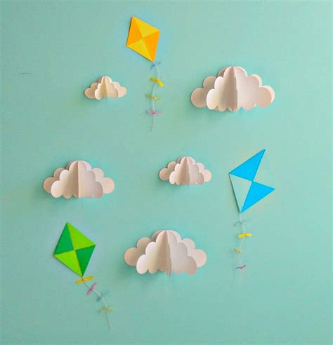 How To Make 3d Clouds Out Of Paper - interior decorating tips creative wall ideas