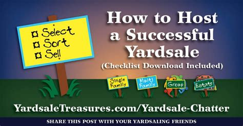 How To Host A Successful Garage Sale by Yardsale Chatter Page 2 Of 2 Yardsale Treasures