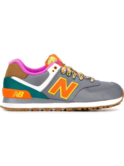 new balance sneakers new balance neon mountain 574 sneakers in gray lyst