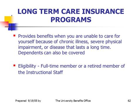 term care insurance office of human resources management university benefits