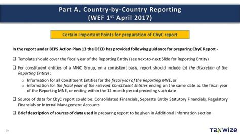 Oecd Country By Country Reporting Template Budget 2016 Presentation Part I Transfer Pricing And
