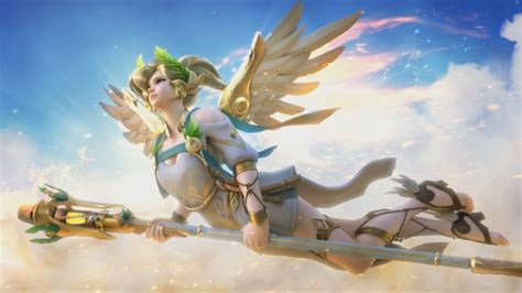 wallpaper engine mercy overwatch winged victory mercy wallpaper engine youtube