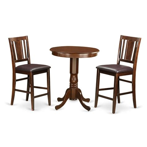 3 counter height pub table set wooden importers 3 counter height pub table set