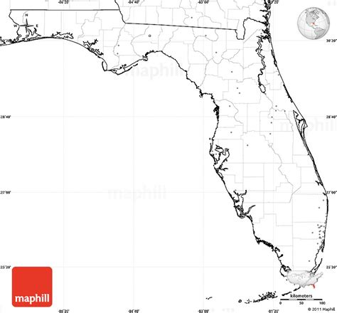 Florida Simple Search Free Blank Simple Map Of Florida No Labels