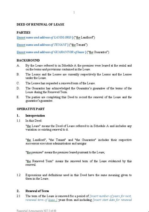 Lease Renewal Letter Legally Binding lease renewal letter template business
