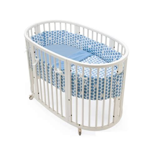 Stokke Crib Bedding Circle Cribs Stokke Sleepi Bedding Set Dots Blue From Stokke