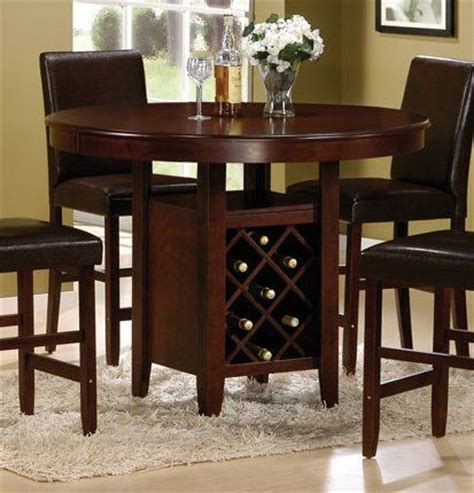 Dining Room Table With Wine Rack by Counter Height Dining Table Wood Counter And Solid Wood