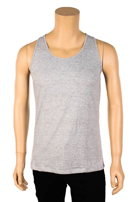 Top Fit To L fit tank top sleeveless shirt singlet workout blank plain s m l xl ebay