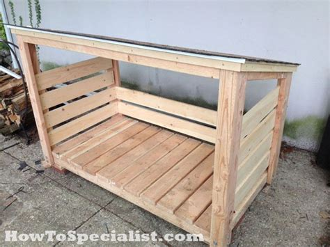 diy firewood storage rack plans diy firewood shed howtospecialist how to build step