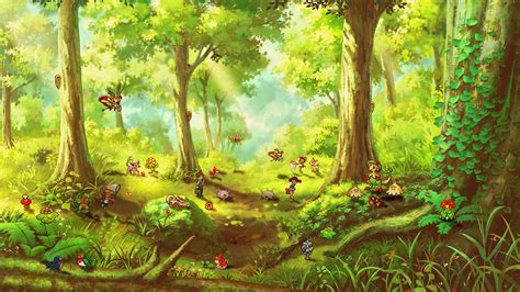 Forest Scene Wall Mural forests animated gifs
