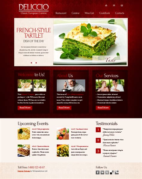25 Restaurant Cafe Html Website Templates Free Premium Restaurant Website Template