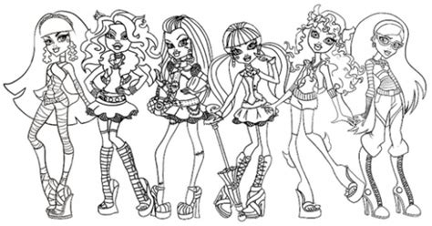 print amp download monster high coloring pages all