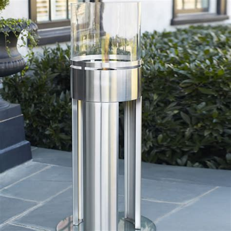 free standing stainless steel gel fueled fireplace