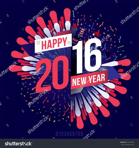 theme of new year 2016 vector illustration happy new year 2016 theme 318159656