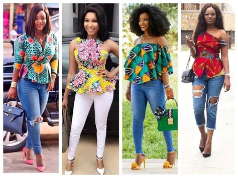 ankara peplum tops styles ladies checkout these ankara trouser and top styles for
