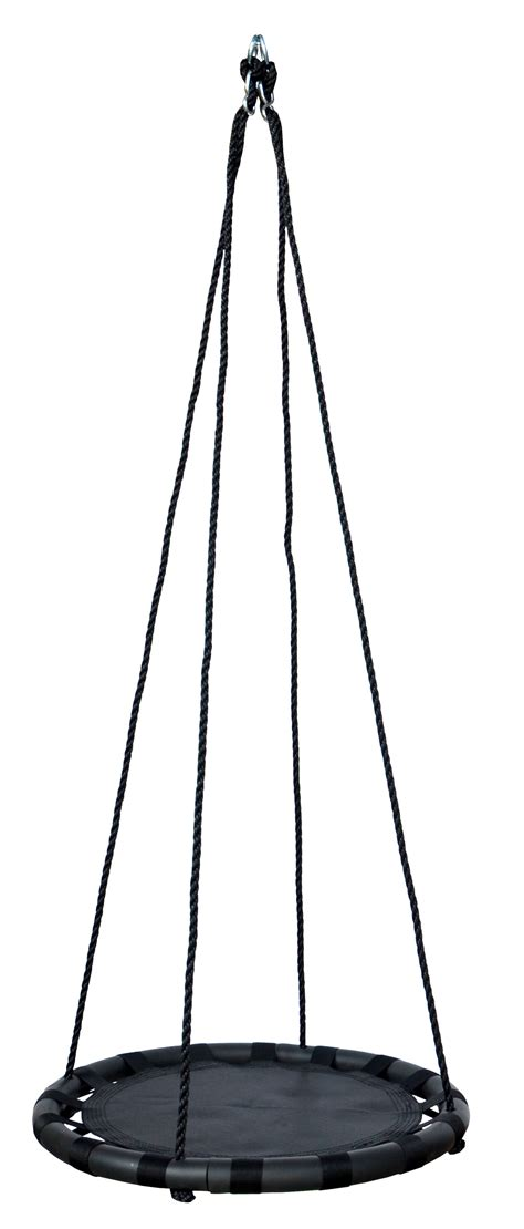 black swing 60cm black round mat nest swing heavenly hammocks