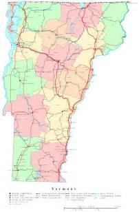us map vermont state vermont printable map