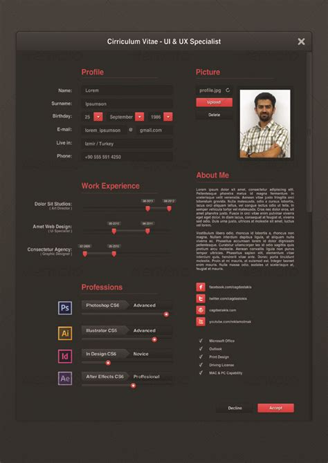 Ui Designer Resume by Ui Designer Resume By Cagdastakis Graphicriver