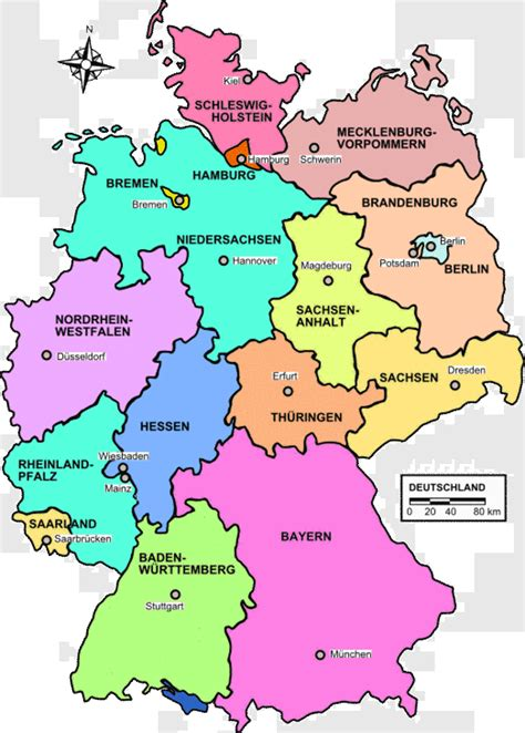 map of the germany map of germany country region map of germany