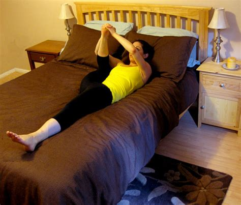 stretching before bed bed stretch popsugar fitness