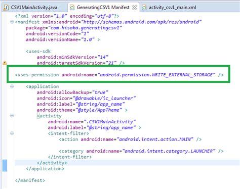 Membuat File Xml Di Android | dimensi tutupbotol membuat file csv generator di android