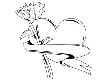 imagenes de rosas y corazones para dibujar colorea tus dibujos coraz 243 n con rosas para colorear y pintar