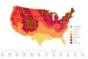 fall color map climate and agriculture in the southeast fall foliage
