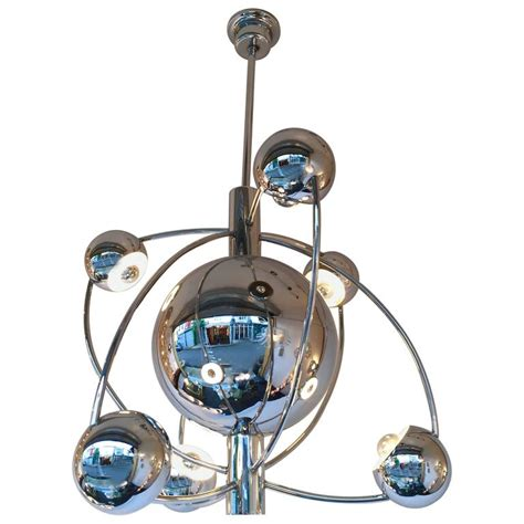 Satellite Chandelier Satellite Chandelier Chrome By Reggiani Italy 1970s At 1stdibs