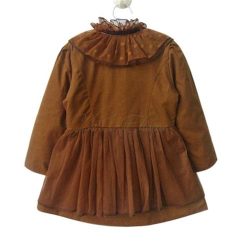 Dress Anak N Bab Dress Coat Color trench coat wind jacket baby dress clothes outwear lace collar sz 3 7 ebay