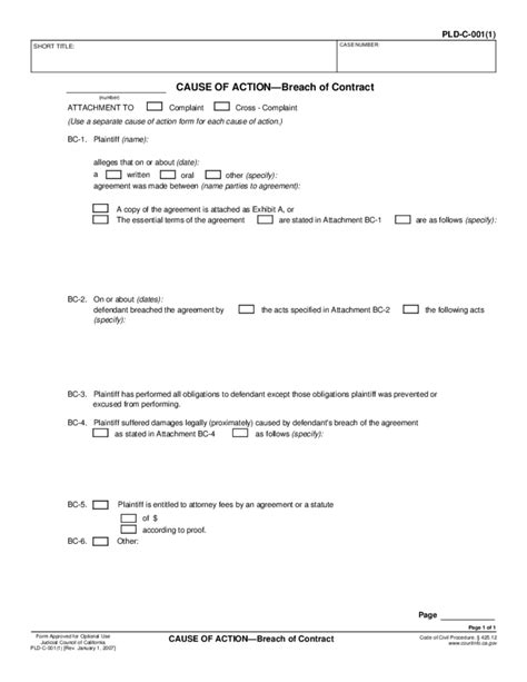 Breach Of Lease Letter Template Breach Of Contract Form California Free