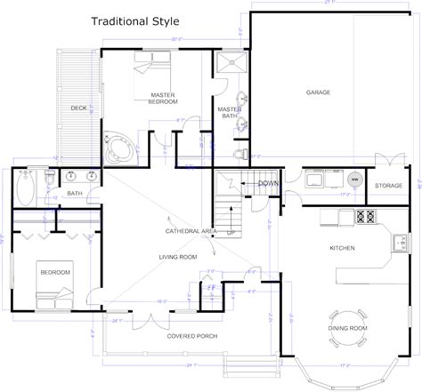Sample Floor Plans For Houses floor plan example traditional house plan