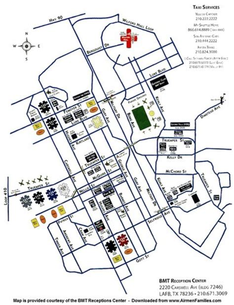 lackland afb map lackland air base afb maplets