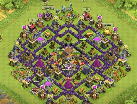 layout for town hall 8 best clash of clans town hall level 8 defense strategy