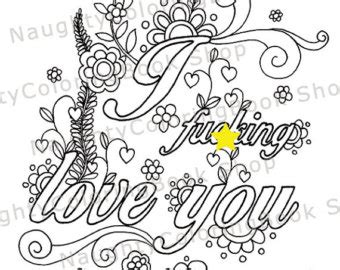 View Adult Coloring Pages By Naughtycoloringbook On Etsy I You Coloring Pages For Boyfriend