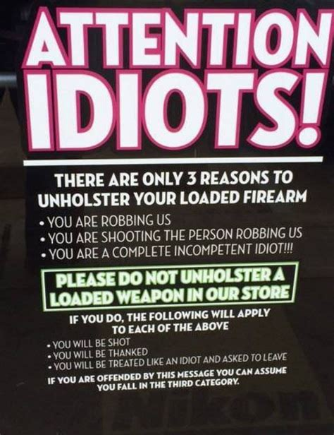 Funny Welcome Mats please do not unholster a loaded weapon in our store funny
