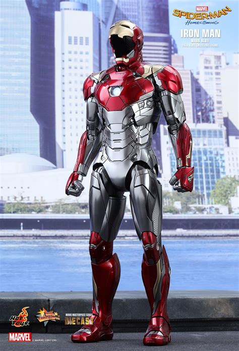 hot toys spider man homecoming iron man mk xlvii spider man homecoming this replica iron man figure looks