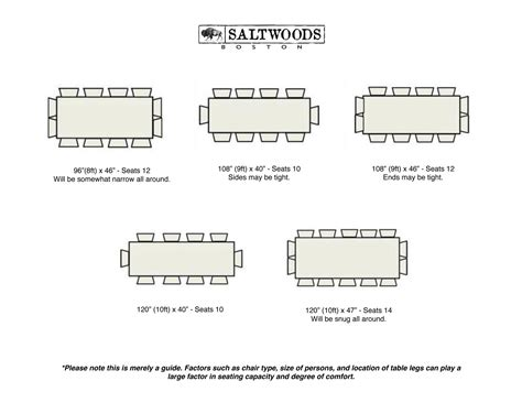 Table Seating by Table Seating Guide Saltwoods Custom Farm Tables