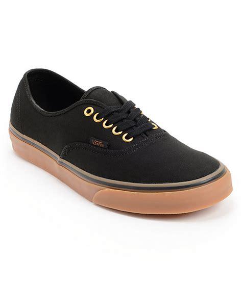Jual Vans Authentic Black Gum vans authentic black gum skate shoes mens at zumiez pdp