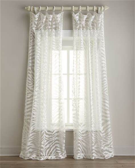 zebra sheer curtains isabella collection by kathy fielder quot zebra quot sheer