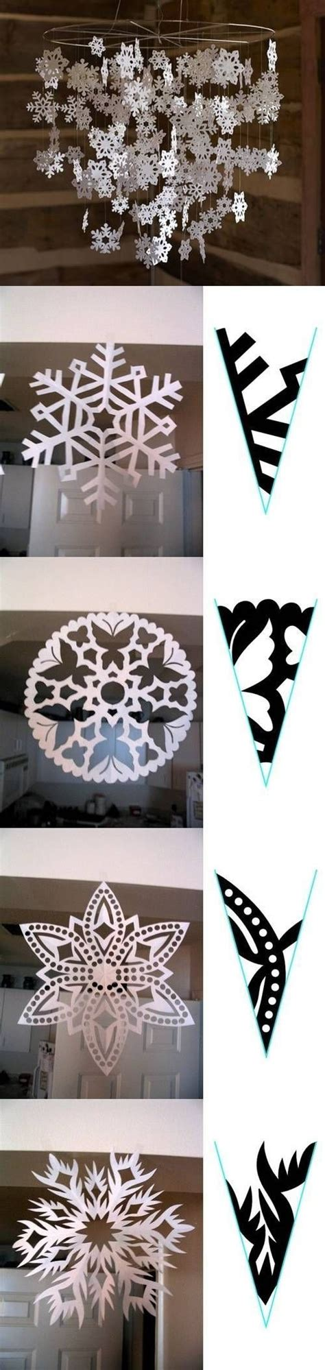 diy decorations paper snowflakes diy snowflake paper pattern diy craft crafts how to
