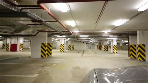 Underground Garage Russia by Movement On The Underground Parking Time Lapse Stock