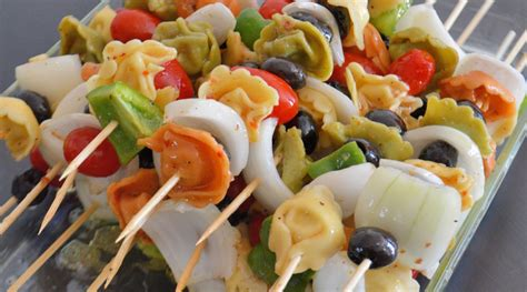 cold salad cold tortellini salad skewers