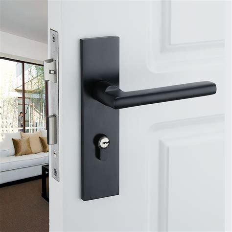 Black Interior Door Knobs by 2015 Aluminum Home Door Handle For Interior Doors