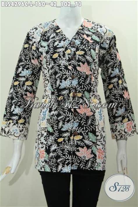 desain jahit baju batik pakaian batik blus dua warna kombinasi desain keren banget