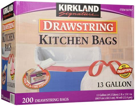 Kirkland Signature Drawstring Kitchen Trash Bags 13 Gallon kirkland signature drawstring kitchen trash bags 13