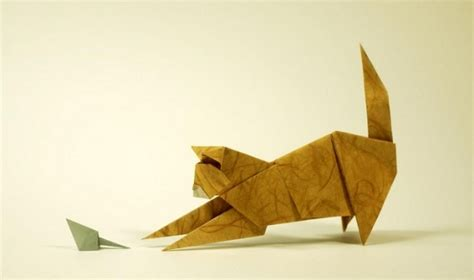 Paper Folding Cat - this adorable kitten got more than it bargained for and