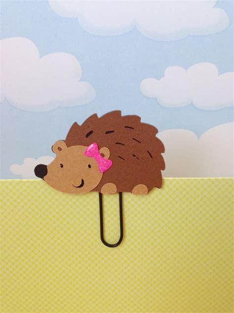 hedgehog bookmarks girl hedgehog filofax day planner bookmark clip