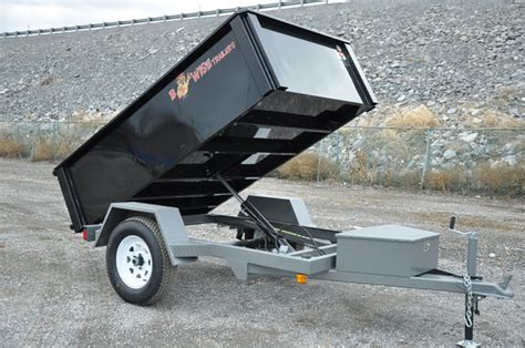 Ultimate Bed Plans B Wise Trailers Single Axle 5 000 Lb Dump Trailers