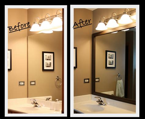 frame around mirror in bathroom sabby in suburbia tutorial master bath mirror update