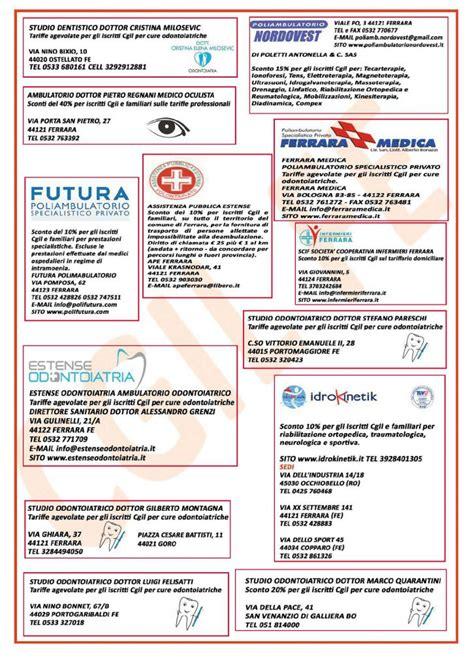 nazionale lavoro ferrara volantino convenzioni 2018 per gli iscritti cgil di